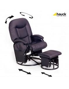 Hauck Metal Glider Fotel bujany do karmienia z podnóżkiem