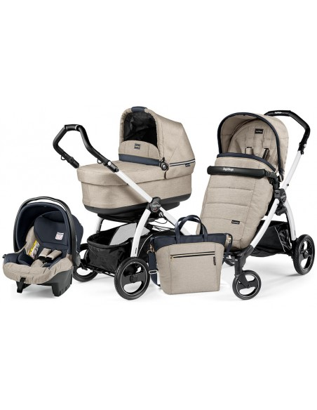 Peg Perego Book S Pop-Up Completo Modular - White/black Luxe beige