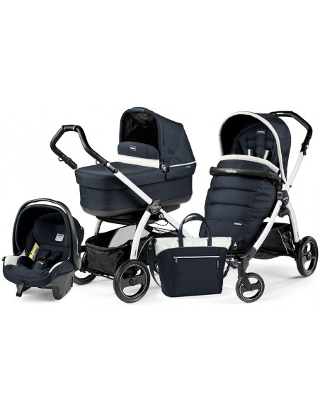 Peg Perego Book S Pop-Up Completo Modular - White/black Luxe blue