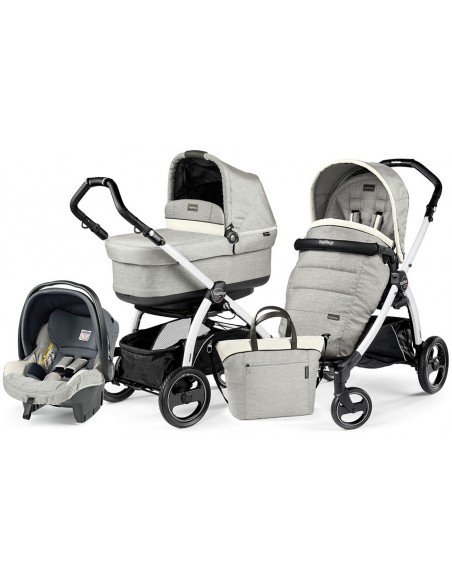 Peg Perego Book S Pop-Up Completo Modular - White/black Luxe opal