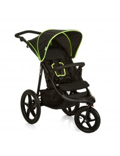 hauck wózek Runner black/neon yellow