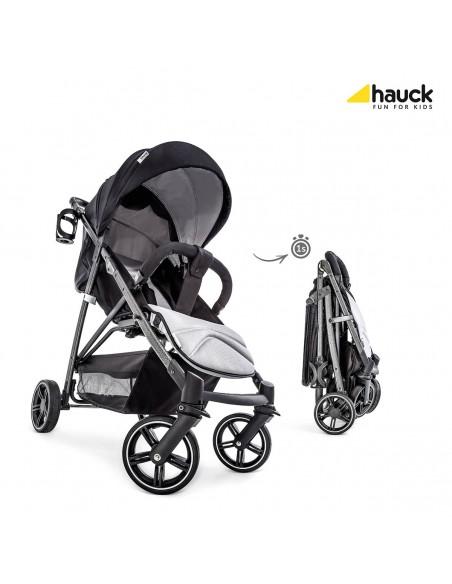 hauck wózek 4w1 Rapid 4S Plus Trioset Caviar/Silver