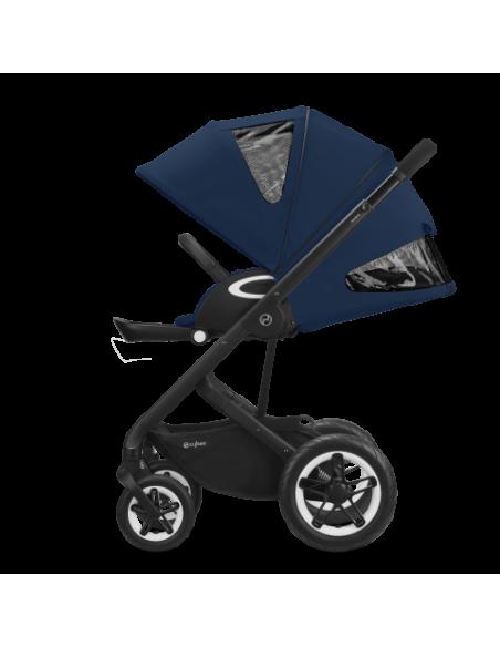 Cybex wózek TALOS S LUX SLV Deep Black|srebrna rama