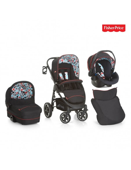 hauck wózek 3w1 Fisher Price Montreal Plus Trio Set Gumball Black - Outlet