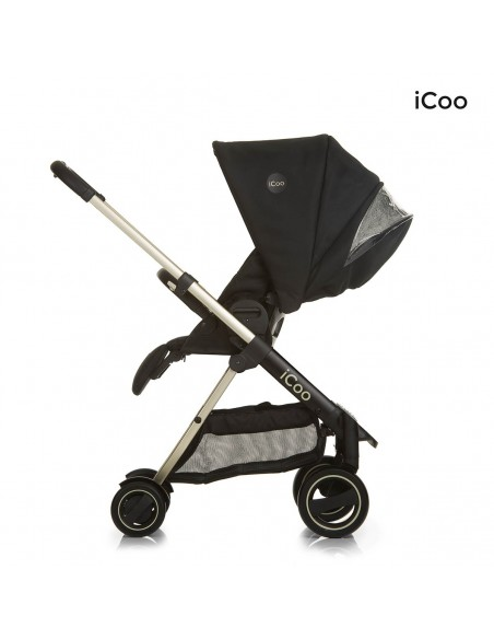 iCoo wózek 3w1 Acrobat XL Plus Trio Set Diamond Caviar - Outlet