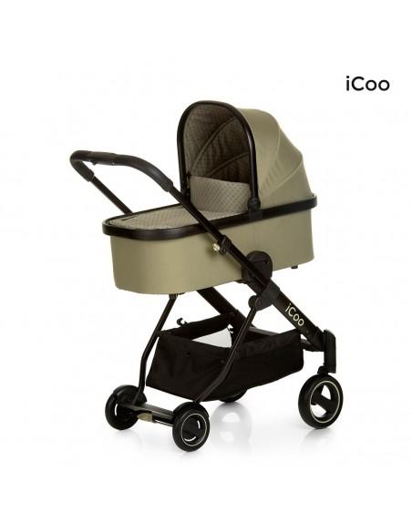 iCoo wózek 3w1 Acrobat XL Plus Trio Set Diamond Olive - Outlet