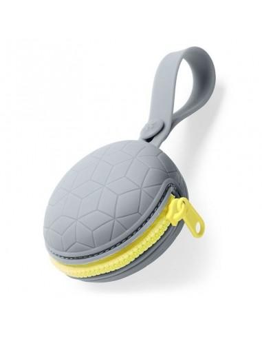 SKIP HOP - Silikonowe etui na smoczek Grey