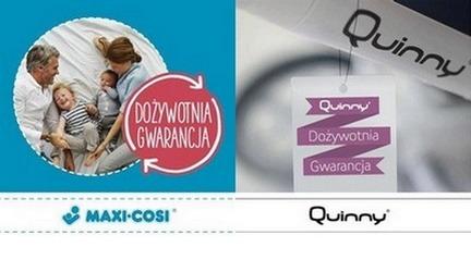 Dożywotnia gwarancja na produkty Maxi-Cosi i Quinny